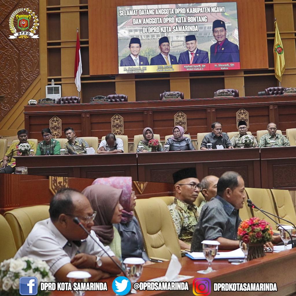 Menerima Kunjungan Kerja DPRD Kabupaten Ngawi dan DPRD Kota Bontang