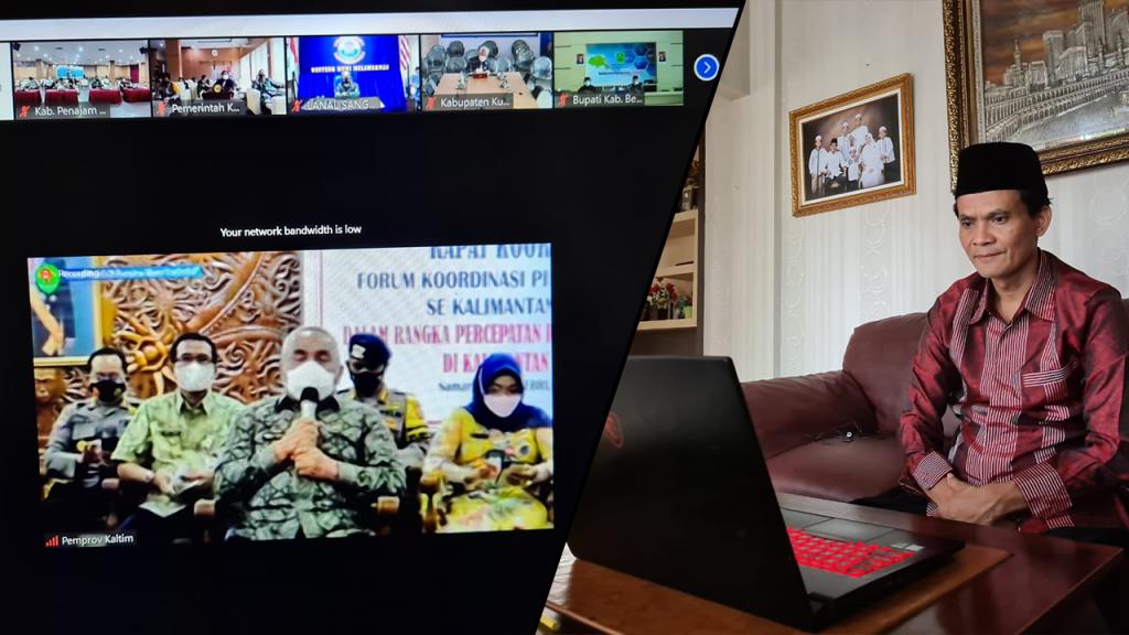 Rapat Forkopimda se-Kalimantan Timur 4 Februari 2021
