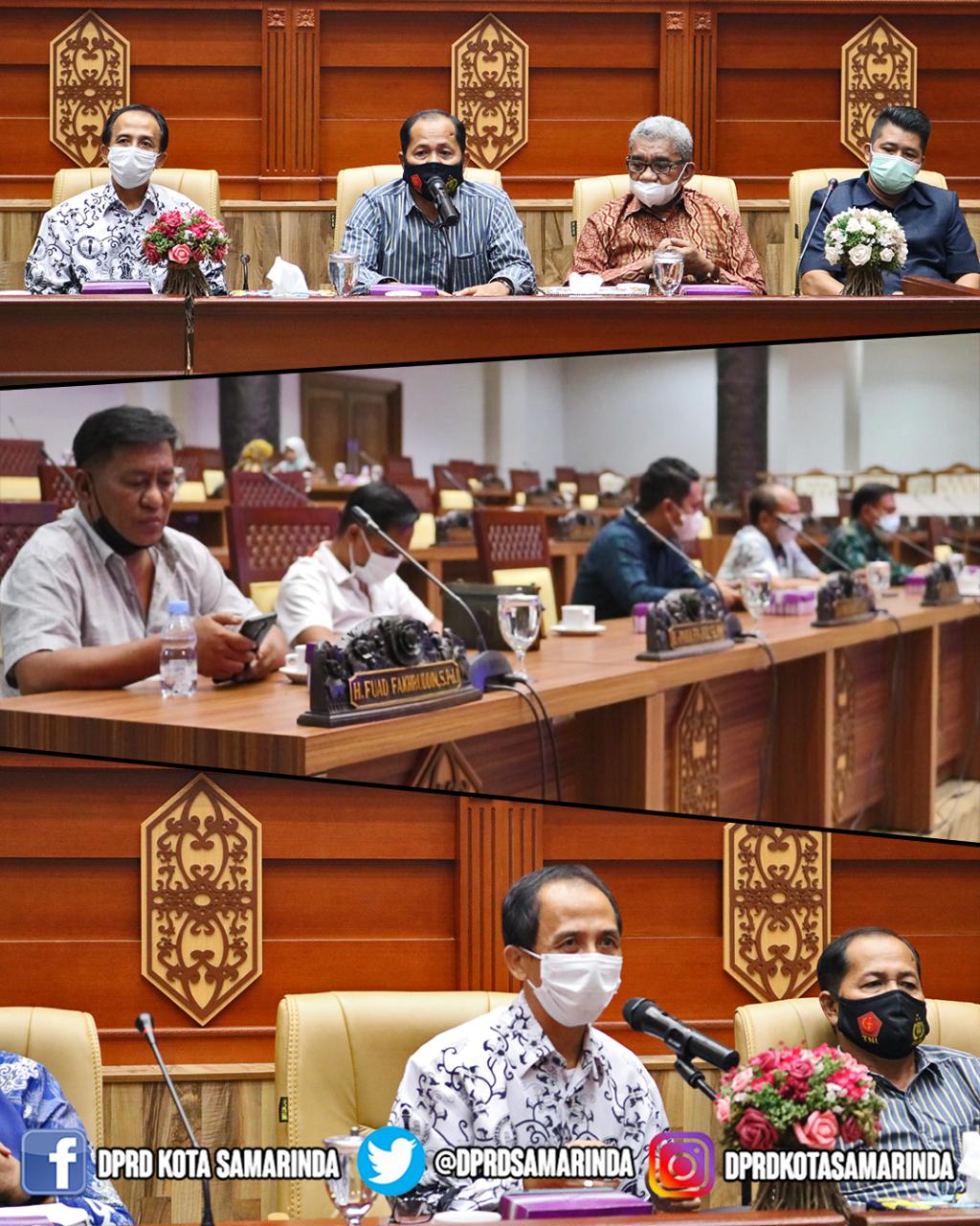 Menerima Kunjungan Kerja DPRD Kota Palu